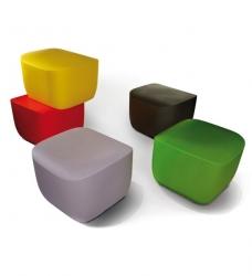 Design Hocker Kunststoff Translation grau (7042)