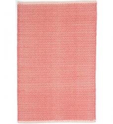 Dash & Albert Baumwollteppich Herringbone korallenfarben 76 x 244 cm