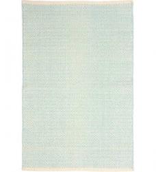 Dash & Albert Baumwollteppich Herringbone eisblau