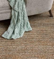 Jute Teppich geflochten 240 x 300 cm