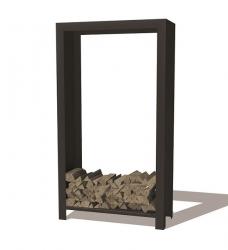 Kaminholzlager schwarz 100 x 40 x 180 cm