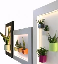 Magnettafel mit Rahmen beleuchtet