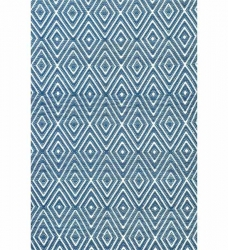 Dash & Albert Outdoor Teppich Diamond blau