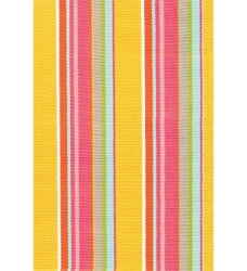 Outdoor Teppich bunt Happy Yellow Stripe