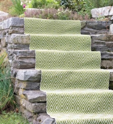 Dash & Albert Outdoor Teppich Diamond grün