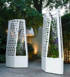 Design Pflanzgefäß AIR mit Sichtschutz