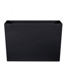 Pflanzkübel Kunststoff lang hoch schwarz  90x40/60cm