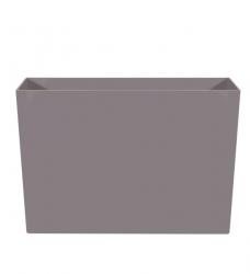 Pflanzkübel Kunststoff lang hoch grau 90x40/60cm