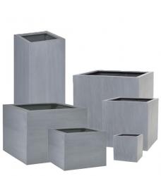 Pflanzkübel Kunststoff TRIBECA grau