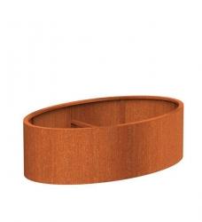 Pflanzkübel oval XL aus Cortenstahl