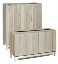 Pflanzkübel Raumteiler Holz grau