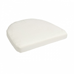 Sitzkissen für Romantik Sessel weiß
