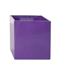 Magnetischer Blumentopf Würfel 9 cm | violett