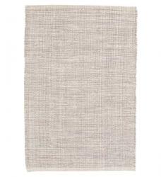 Webteppich Baumwolle grau meliert