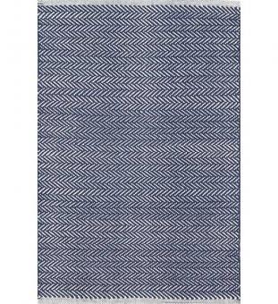 Dash & Albert Baumwollteppich Herringbone dunkelblau 61 x 91 cm