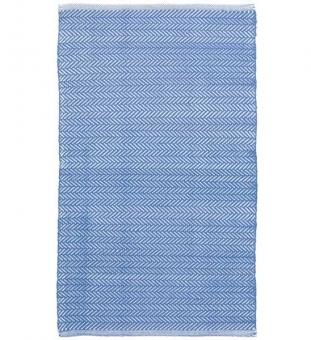 Outdoor Teppich Herringbone französisch blau