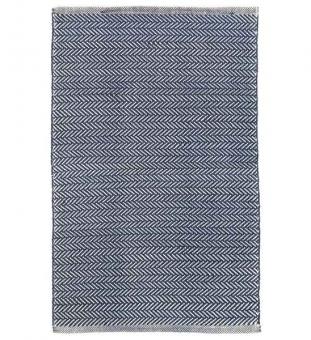 Outdoor Teppich Herringbone dunkelblau