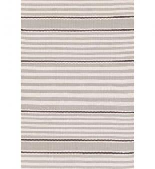 Outdoor Teppich Rugby Stripe grau gestreift