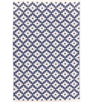 Dash & Albert Outdoor Teppich Samode blau 120 x 180 cm