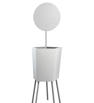 Design Pflanzkübel Metall Elevation mit Spiegel