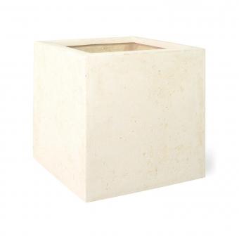 Pflanzkübel Polystone eckig creme 40 x 40 x 40 cm (L/B/H)