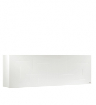 Pflanzkübel Raumteiler weiß Metall 162 x 29 x 53 cm (L/B/H)