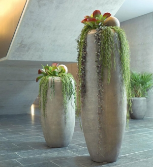 Pflanzvase Beton-Optik CIGAR