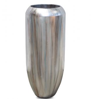 Pflanzvase CIGAR oxidiert mystic-silver