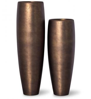 Pflanzvase ROYAL in bronze Optik